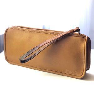 Vintage Coach NYC Saddle Leather Long Clutch Bag